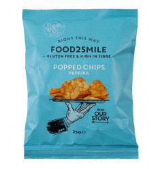 Food2Smile Popped chips paprika 25 gram | € 0.72 | Superfoodstore.nl