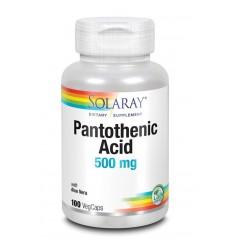 Solaray Vitamine B5 pantotheenzuur 500 mg 100 vcaps |