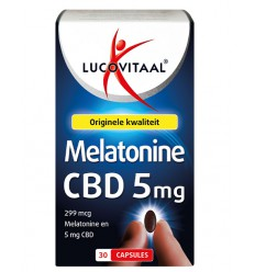Lucovitaal Melatonine CBD 5 mg 30 capsules | Superfoodstore.nl