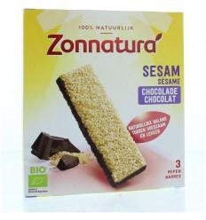 Repen Zonnatura Sesam reep pure chocolade 3-pak 90 gram kopen