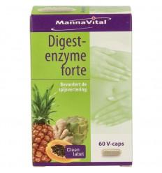 Mannavital Digest enzyme forte 60 vcaps | € 15.80 | Superfoodstore.nl