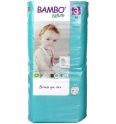 Babydoekjes Bambo Nature Babyluier midi 3 4 - 8 kg 52 stuks