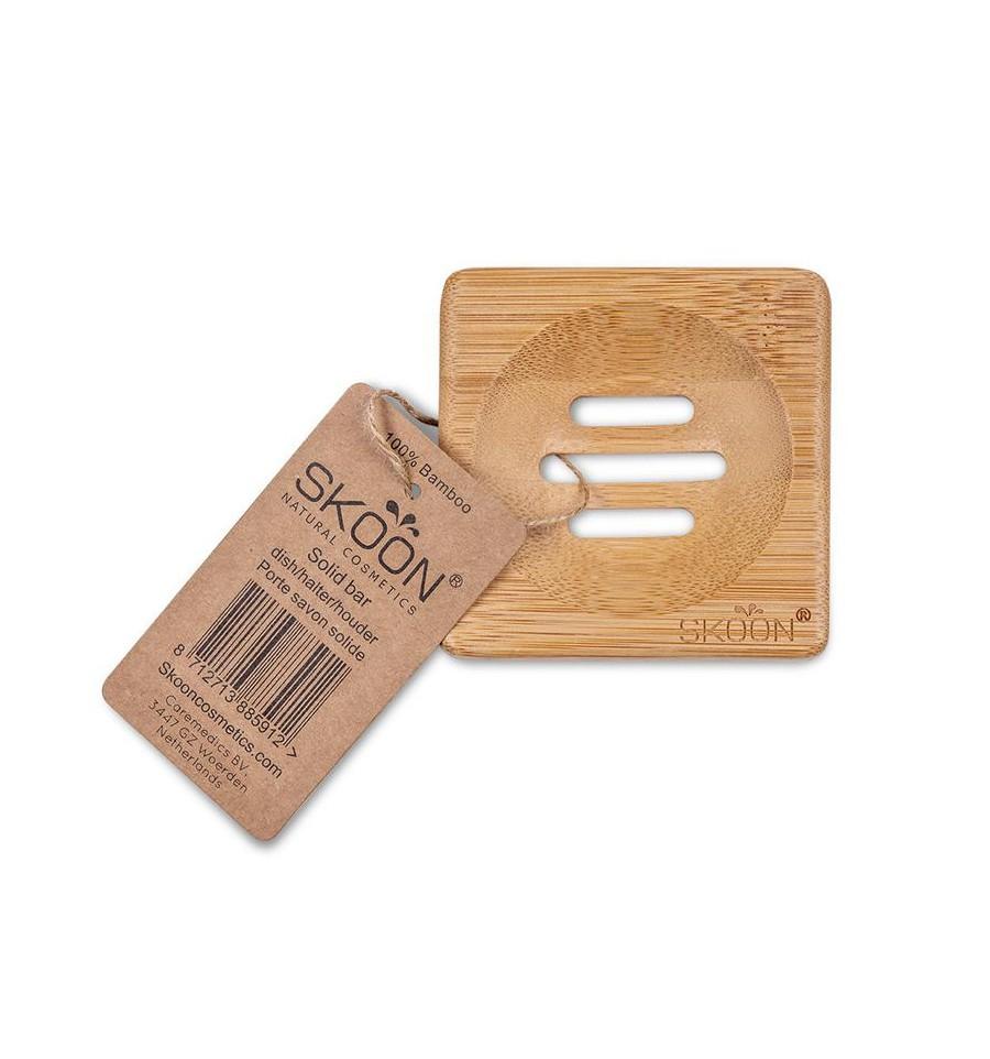 Skoon Bamboe solid bar houder vierkant