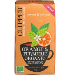 Clipper orange & turmeric infu | Superfoodstore.nl