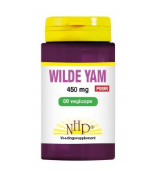 NHP Wilde yam 450 mg puur 60 vcaps | € 20.92 | Superfoodstore.nl