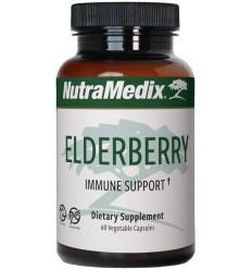 Nutramedix Vlierbes elderberry 60 capsules   Superfoodstore.nl
