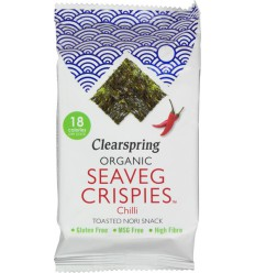 Clearspring Seaveg crispies chilli 4 gram | Superfoodstore.nl