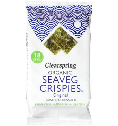 Zoutjes Clearspring Seaveg crispies original 4 gram kopen