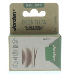 Jordan Green clean tandenstoker dun 100 stuks  