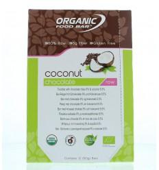 Organic Food Bar Bar chocolade kokosnoot 50 gram 12 stuks |