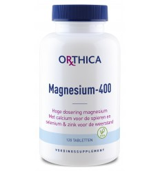 Orthica Magnesium 400 120 tabletten | Superfoodstore.nl