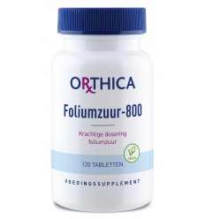 Orthica Foliumzuur 800 120 tabletten | Superfoodstore.nl