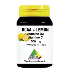BCAA SNP BCAA Lemon vitamine D3 vitamine C 500 mg 300 capsules