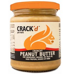 Crack'd Pindakaas crunchy organic 250 gram | Superfoodstore.nl