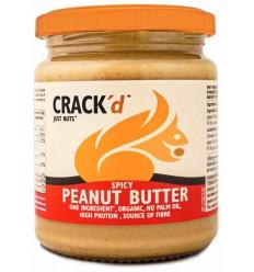 Crack'd Pindakaas spicy organic 250 gram | Superfoodstore.nl