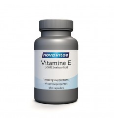 Nova Vitae Vitamine E 400IU 180 capsules | Superfoodstore.nl