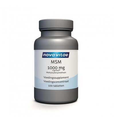 Nova Vitae MSM 1000 mg 100 tabletten | Superfoodstore.nl