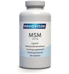 Nova Vitae MSM 1000 mg 300 tabletten | Superfoodstore.nl