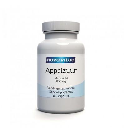 Energie Nova Vitae Appelzuur malic acid 800 mg 100 capsules kopen