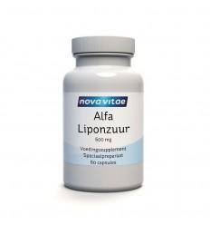 Nova Vitae Alfa liponzuur 600 mg 60 capsules | Superfoodstore.nl