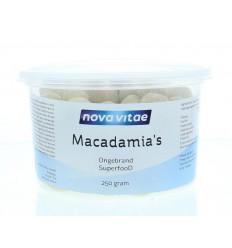 Nova Vitae Macadamia ongebrand raw 250 gram | Superfoodstore.nl
