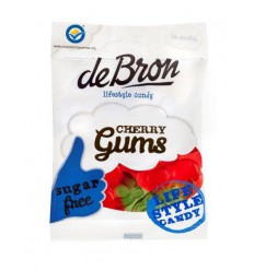De Bron Kersen gums/cherry gums suikervrij 90 gram |