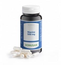 Bonusan Niacine 500 mg 60 capsules | Superfoodstore.nl