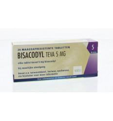 Maag Teva Bisacodyl 5 mg 20 tabletten kopen