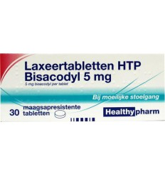 Laxeermiddel Healthypharm Laxeer bisacodylum 5 mg 30 tabletten