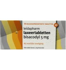 Laxeermiddel Leidapharm Bisacodyl laxeer 5 mg 30 tabletten kopen