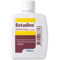 Desinfectie Betadine Jodium oplossing 100 mg/ml 120 ml kopen