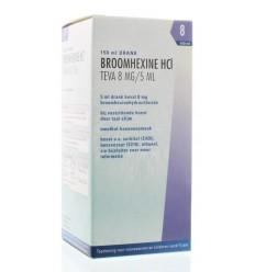 Hoest Teva Broomhexine Hcl 8 mg/5 ml 150 ml kopen