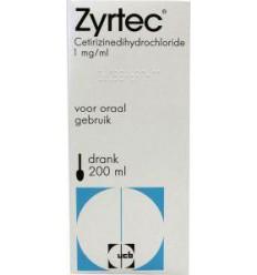 Hooikoorts Zyrtec drank 1 mg/mg 200 ml kopen