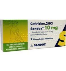 Hooikoorts Sandoz Cetirizine DICHL 10 mg 7 tabletten kopen
