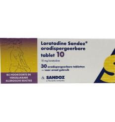 Hooikoorts Sandoz Loratadine 10 mg orotaat 30 tabletten kopen