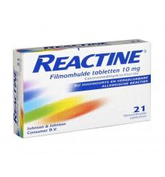 Hooikoorts Reactine Anti histamine 10 mg 21 tabletten kopen