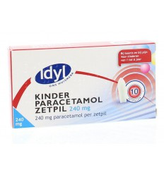 Pijnstillers Idyl Paracetamol kind 240 mg 10 zetpillen kopen