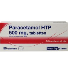Pijnstillers Healthypharm Paracetamol 500 mg 50 tabletten kopen