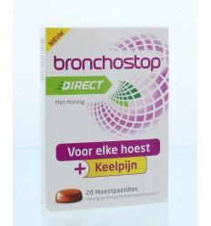 Bronchostop Direct pastilles honing 20 stuks | Superfoodstore.nl