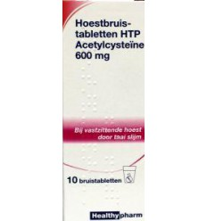 Hoest Healthypharm Acetylcysteine 600 mg 10 bruistabletten kopen