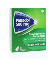 Pijnstillers Panadol glad 500 mg 20 tabletten kopen