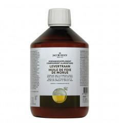Vetzuren Jacob Hooy Levertraan/visolie vitamine A & D 500 ml