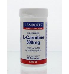 L-Carnitine Lamberts L-Carnitine 500 mg 60 vcaps kopen