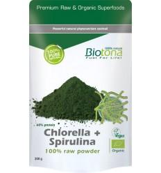 Chlorella Biotona Chlorella & spirulina raw powder 200 gram