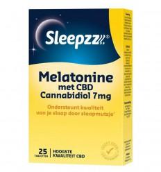 CBD Olie Sleepzz Melatonine met CBD 7 mg 25 tabletten kopen