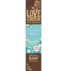 Chocolade Lovechock M'lk coconut nibs 40 gram kopen