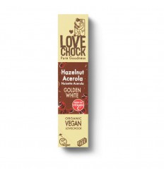 Chocolade Lovechock Golden white hazelnut acerola 40 gram kopen