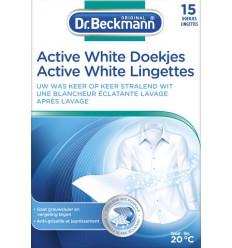 Schoonmaakproducten Beckmann Doekjes active white 15 stuks kopen