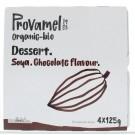 Provamel Dessert choco rietsuiker 125 gram 4 stuks