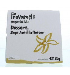 Dessert Provamel Dessert vanille rietsuiker 125 gram 4 stuks